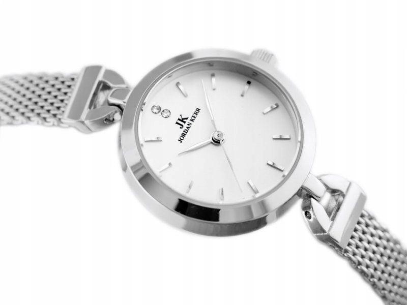 Srebrny zegarek damski bransoleta jordan kerr - pt zdjęcie 1