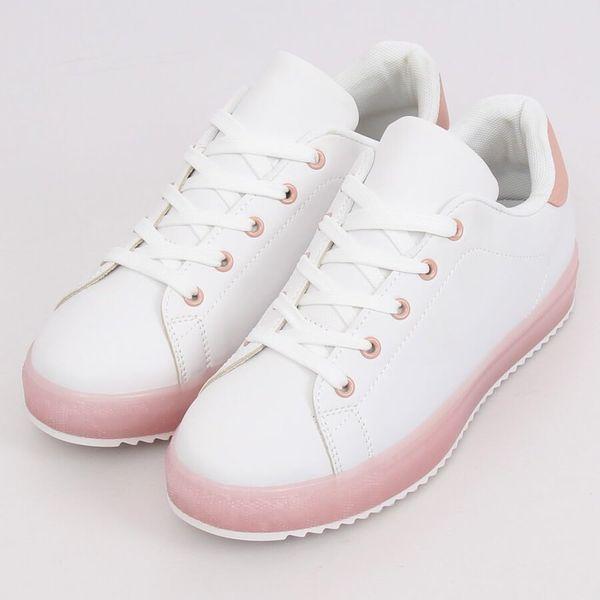 27b605b186b215 Trampki damskie biało-różowe 9118 Pink r.38 • Arena.pl