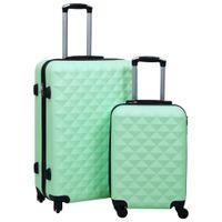 Zestaw twardych walizek na kółkach, 2 szt., miętowy, ABS