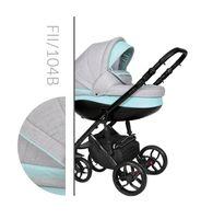 Wózek dziecięcy Faster 2 Style Baby Merc wielofunkcyjny szaro-pistacjowy 3w1