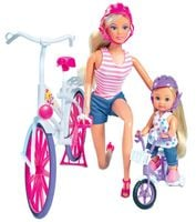 Lalka Steffi i Evi Love Przejażdżka na rowerze Simba