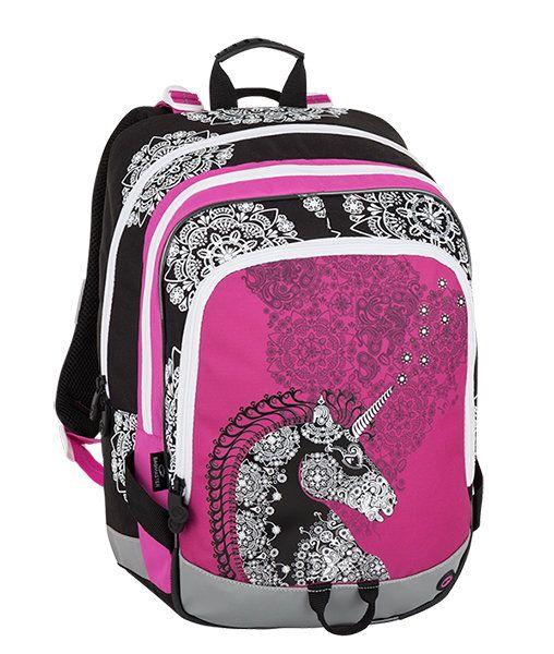 72e5792e16f Trzykomorowy plecak szkolny dla dziewczynki Bagmaster, jednorożec zdjęcie 1