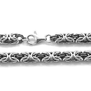 Łańcuch srebrny splot królewski bizantyjski 53 cm