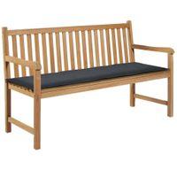 Poduszka na ławkę ogrodową 150x50x3cm szara VidaXL