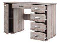 biurko ABS B2 dąb truflowy z szufladami praktyczne szkolne dla dziecka