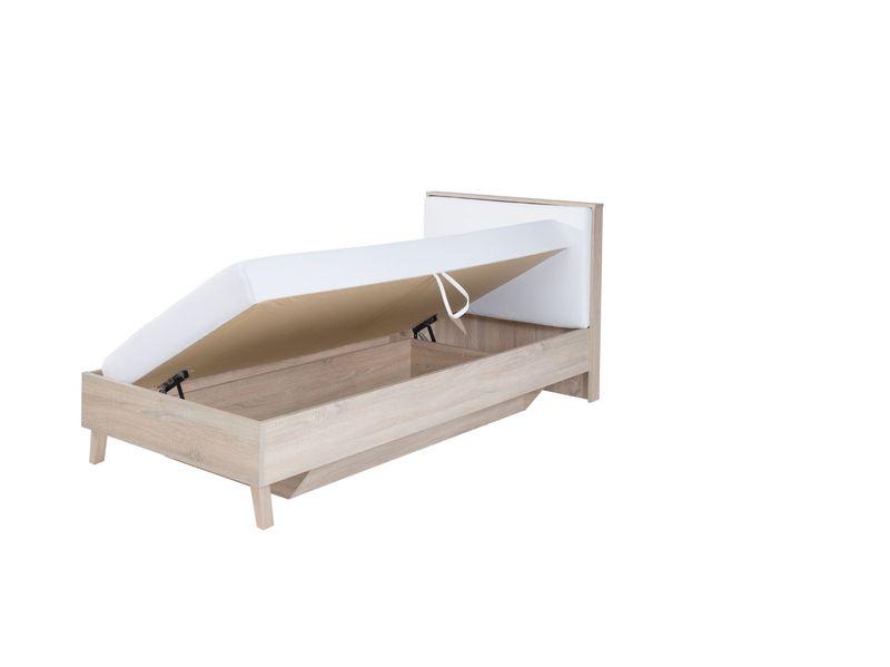 Malmo łóżko Z Pojemnikiem I Materacem 90x200 Dąb Sonoma 38