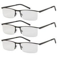 Okulary do czytania 3 szt +1 metalowa oprawka swe