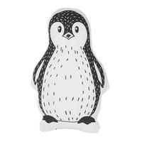 Bawełniana poduszka dla dzieci pingwin 32 x 48 cm biało-czarna HAJDARABAD