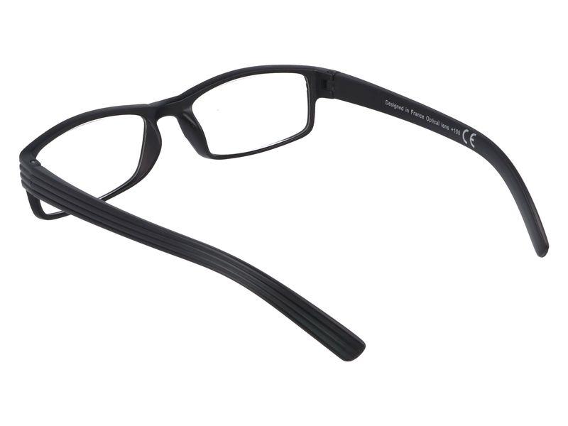 Korekcyjne okulary do czytania czarne plusy +1.00 zdjęcie 3