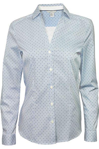 H&M Błękitna Koszula, Groszki - 42 / XL zdjęcie 1
