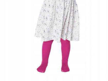 Kryjące Rajstopy Dziecięce Pipi 40 3d Dark Pink Marilyn 128/146