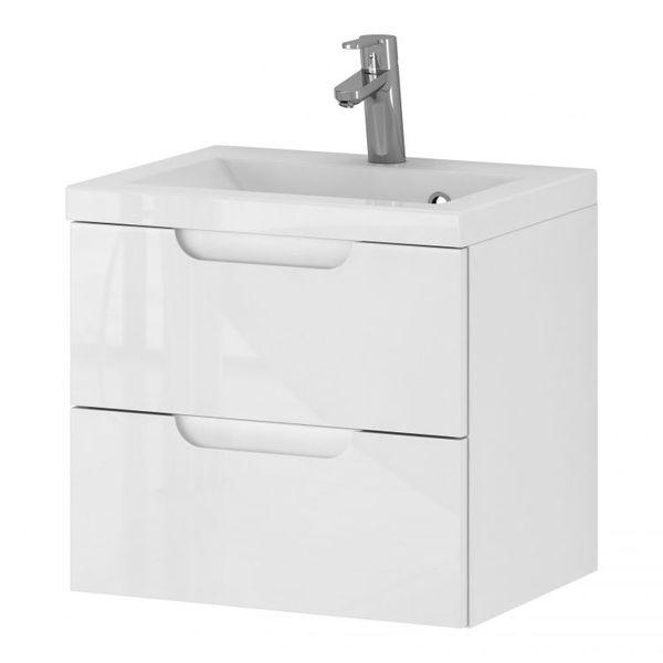 Szafka łazienkowa Z Umywalką Rise 50 Cm Lakierowane Złożone