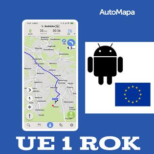 AutoMapa Europy licencja 1 rok - Android