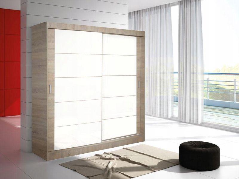 Szafa przesuwna lustro ERYK 2A 150cm -17szerokości - 11 kolorów zdjęcie 8
