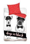 Pościel Dogs in Black 160x200 Carbotex