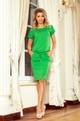 Sportowa sukienka z krótkim rękawem - Zielony S