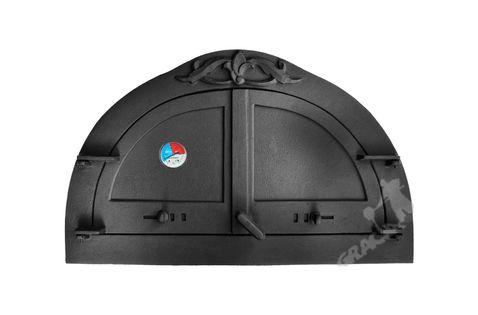 DRZWI C10 - 47X77 CM + TERMOMETR 0-250°C do pieca pizzy pizzeria żeliwne