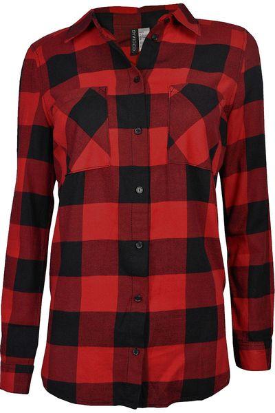 H&M Koszula Czerwono-Czarna Krata Oversize - 38 / M zdjęcie 1