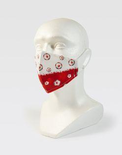 Maseczka na twarz biało-czerwona dla kibica - PIŁKI POLSKA