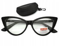 Kocie oczy zerówki okulary oprawki damskie kujonki