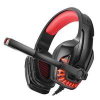Słuchawki gamingowe REAL-EL GDX-7650, black-red