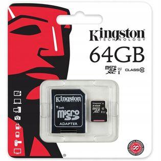 KARTA PAMIĘCI microSD 64GB KINGSTON HQ Z ADAPTEREM