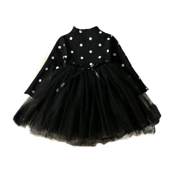 Puszysta CZARNA sukienka w Kropki z Tiulem 92/98 zdjęcie 1