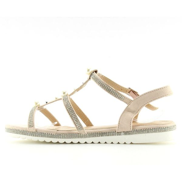 Sandałki z perełkami różowe RC-33 Pink r.36 zdjęcie 5