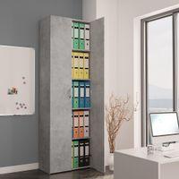 Szafa biurowa, betonowy szary, 60x32x190 cm, płyta wiórowa