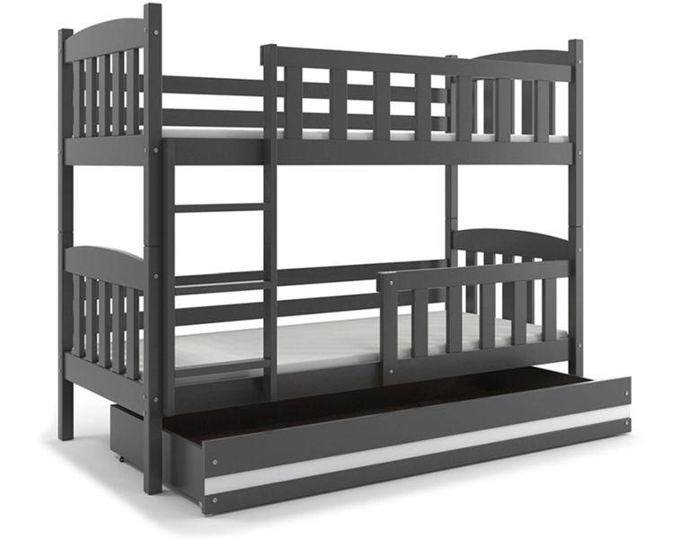 Łóżko piętrowe dla dzieci Kubuś 190x80 dziecięce + MATERAC + SZUFLADA zdjęcie 9