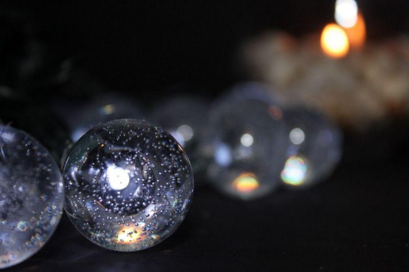 Lampki solarne 30 LED JoyLight zimne białe w kształcie kulek zdjęcie 3