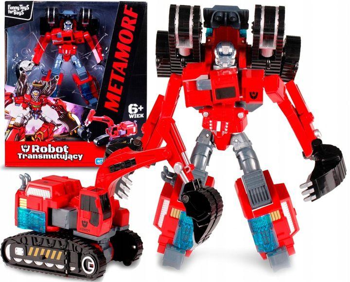 TRANSFORMER Robot KOPARKA GĄSIENICOWA 2w1 ARTYK Samochód Auto zdjęcie 1