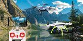 Dron Syma X5HW kamera Wi-Fi funkcja zawisu Niebieski Y142N zdjęcie 2