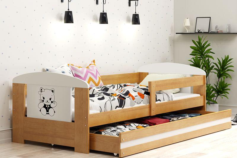 Łóżko pojedyncze FILIP 160x80 dla dzieci + SZUFLADA + BARIERKA zdjęcie 17