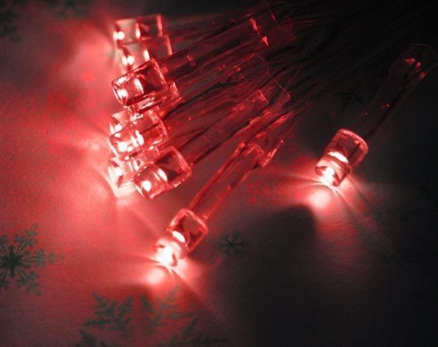 Lampki 10 LED na baterie - czerwony zdjęcie 17