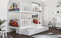 Łóżko piętrowe TAMI COLOR 190x80  szuflada + materace WZORY