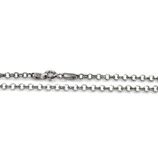 Łańcuszek srebrny rodowany ankier 70 cm