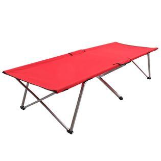 Łóżko Kempingowe, 206X75X45 Cm, Xxl, Czerwone