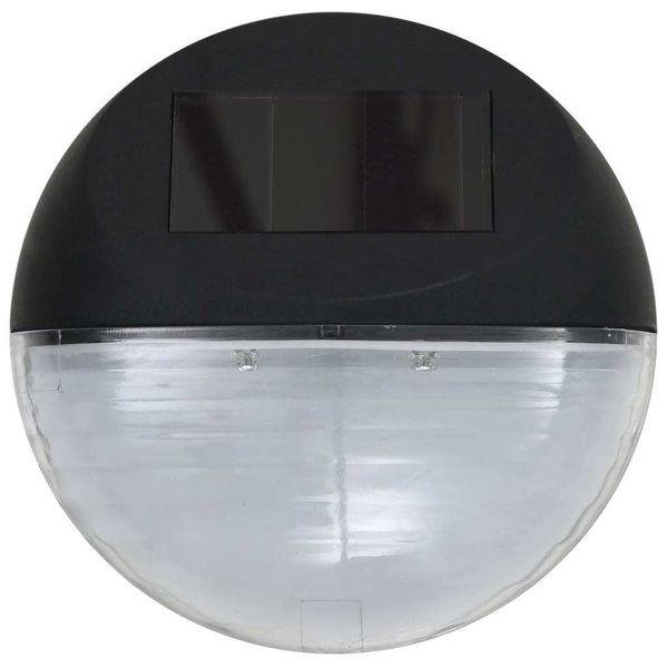 Ścienne Lampy Solarne Led Na Zewnątrz, 12 Szt, Okrągłe, Czarne zdjęcie 5