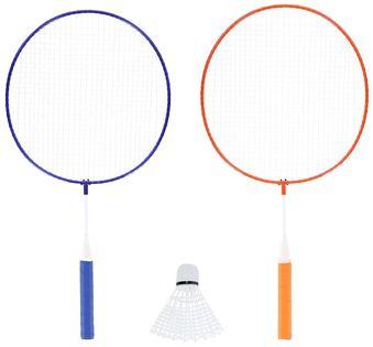 Zestaw rakietek do badmintona 2 sztuki + lotki junior Nils NRZ052 steel