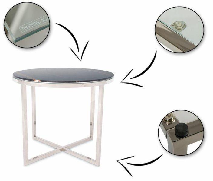 Stolik kawowy ława stół marmurowy szklany blat zdjęcie 4