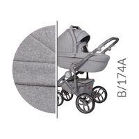 Baby Merc Bebello wózek dziecięcy wielofunkcyjny 3w1 szary