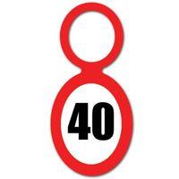 Zawieszki na butelki 40 urodziny znak liczba 20szt