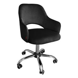Fotel obrotowy MARCY / czarny / noga chrom / MG19
