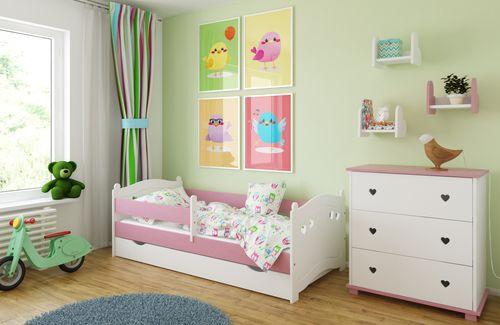 Łóżko LAURA 160x80 + szuflada + barierka zabezpieczająca + MATERAC na Arena.pl