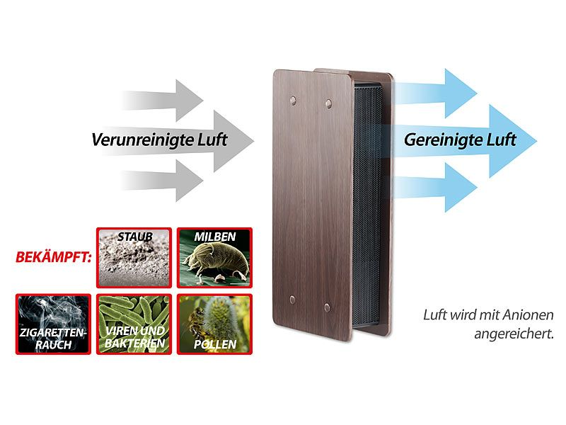 Oczyszczacz powietrza z jonizatorem brązowy Newgen Medicals zdjęcie 12
