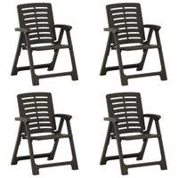 Lumarko Krzesła ogrodowe, 4 szt., plastikowe, antracytowe;