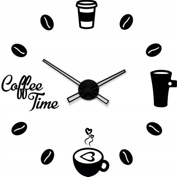 Zegar ścienny Kuchnia Coffee Akryl Cichy 60 100 Cm