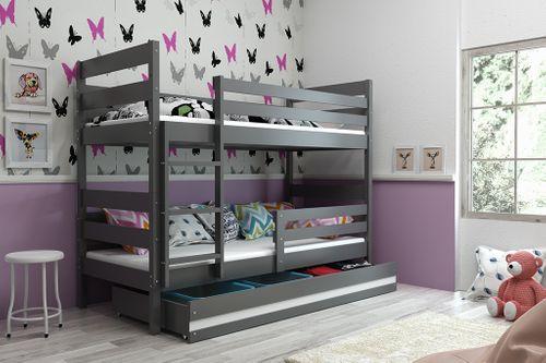 Łóżko piętrowe dla dzieci Eryk dwuosobowe meble drewniane 190x80 na Arena.pl
