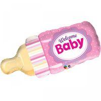 Balon foliowy butelka dziewczynka babyshower
